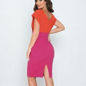 Jealous Tomato Color Block Dresses